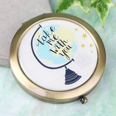 Pop this Globe Compact Mirror from the Lisa Angel Homeware Collection in your handbag! With Free Worldwide Delivery and No Minimum Spend.