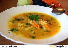 Vydatná cuketová polévka s kedlubnou a mrkví recept - TopRecepty.cz Thai Red Curry, Treats, Ethnic Recipes, Soups, Catalog, Sweet Like Candy, Soup, Sweets, Chowder