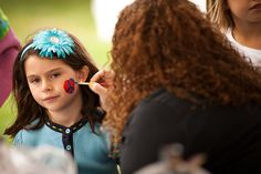 Facepainting at the Grand Haven Salmon Festival - Photo by Brian Fett