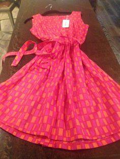 Marimekko Pink/Orange Print Dress, Size 38/M
