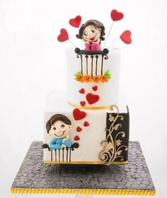 pasteles de boda sencillos de dos pisos