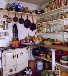 49 Unusual Bohemian Kitchen Design Ideas That You Should Try - Kitchen Rugs are great accessories. They have multiple functions, from adding brightness and newness to the décor, to hiding a deformed or a ruined ki. Bohemian Kitchen, Shabby Chic Kitchen, Vintage Kitchen, Cozy Kitchen, New Kitchen, Glass Kitchen, Kitchen Ideas, Kitchen Country, Primitive Kitchen