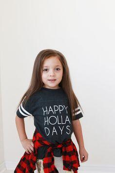 Kids Happy Holla Days Tee