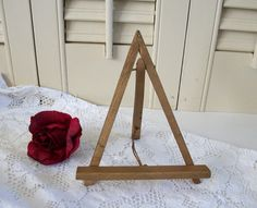 Small Vintage Wooden Easel, Vintage Wood Easel, Art Display Easel, Art Holder…