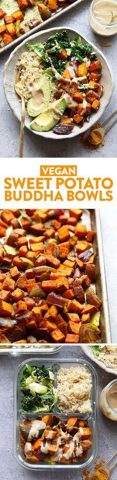 Sweet Potato Vegan Buddha Bowl Recipe - Fit Foodie Finds