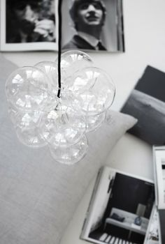Decorative object made of glass balls on a string via House of C