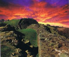 "Construction of Hadrian's Wall began in A.D. 121. The stone-built, 73-mile-long barricade was meant to protect Roman colonies from the northern ""barbarians"", the Picts."