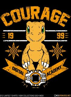 Courage Digital Academy #agumon #digimon https://superhumanitee.com/170