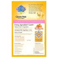 Nature's Recipe Grain Free Easy to Digest (Salmon Sweet Potato & Pumpkin Recipe) - Dry Dog Food - 4lb