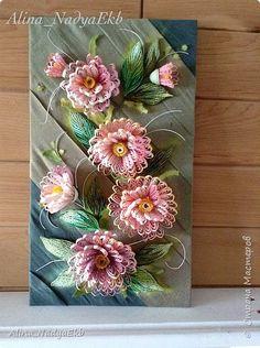 Картина панно рисунок Квиллинг Цветы Бумажные полосы фото 2