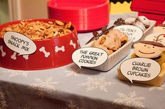 Charlie Brown Christmas - cute theme food ideas
