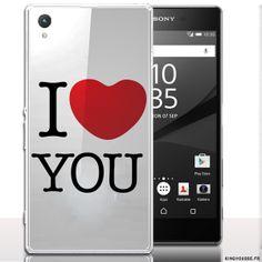Coque pour telephone Sony Xperia z5 I Love You. #LoveU #Coque #etui #Xperia #Z5 #Sony