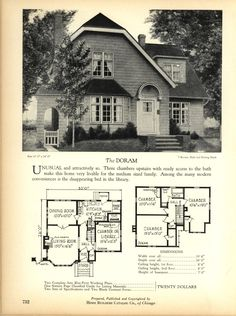 The DORAM - Home Builders Catalog: plans of all types of small homes by Home Builders Catalog Co.  Published 1928