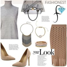Fashionest: Join to win the Tri Color Fringe Necklace! by helenevlacho on Polyvore featuring moda, Astraet, Alexander Wang, River Island, Liliana, Anja and fashionest