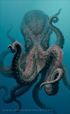 Bones has a phaser that he can shoot at Giant Octopus. Giant Octopus may be big but after some phaser fire then Giant Octopus is gone. This Octopus isn't doing good. Underwater Creatures, Underwater Life, Ocean Creatures, Underwater Animals, Scary Sea Creatures, Fauna Marina, Octopus Art, Octopus Eyes, Octopus Pictures