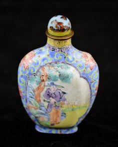 An Enamel Snuff Bottle, Chinese