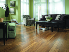 A modern style + a traditional look. Carbonized bamboo is steamed to caramelize the sugar within, changing its color!
