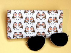 Your place to buy and sell all things handmade Robin, Passport Cover, Wash Bags, Pencil Pouch, Bird Prints, Uk Shop, Printing On Fabric, Sunglasses Case, Cool Designs