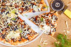 Грибная пицца - рецепт с фото