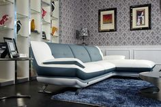 Stylish Design Furniture - K8446 - Modern White Eco-Leather Sectional, $1,380.00 (http://www.stylishdesignfurniture.com/products/k8446-modern-white-eco-leather-sectional.html)