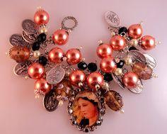 "Lety's Creations: Catholic Virgin Mary ""The Divine Shepherdess"", Saints Religious Medals Bracelet"