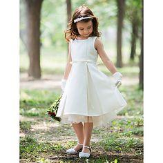 vestido de niña de las flores de seda hasta la rodilla halter vaina - CLP $ 24.442