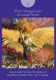 Archangel Raziel is the wizard-like angel of spiritual secrets and mysteries who will open doors of opportunity for you. He'll also speed you along the pathway of manifestation so you'll enjoy success much more quickly than seems logically possible.  http://www.healyourlife.com/oracle-cards/simple-reading/57