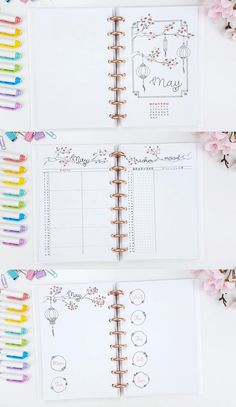 I'm in love with this bullet journal design, I've found it at an amazing youtube channel called MyLifeinaBullet.