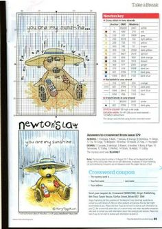 Cross-stitch Newton's Law ~ You are My Sunshine..   1474477_333478280128292_875891289_n.jpg (508×720)