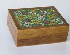 Caixa De Chá em mosaico Primaveril