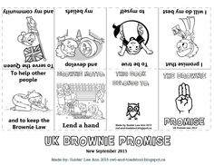Brownie Girl Scout Promise Owl Toadstool: Girl Guides Australia Guides Promise mini book 1553 x 1200 · 546 kB · jpeg Girl Scout Law Word Search Printable GGC Guides Promise Law.