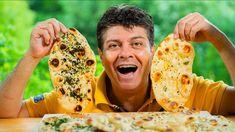 Recept na domácí indický chléb naan na grilu  (bez droždí) Homemade Naan Bread, Recipes With Naan Bread, Dumplings, Grilling, Pizza, Yummy Food, Hot, Ethnic Recipes, Easy