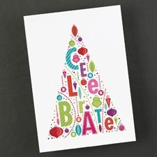 Glitter Tree Holiday Card. Contact MarketShare for details.
