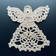 Crocheted Doily  Angel in Lace by MariasNeedleArt on Etsy, $15.00