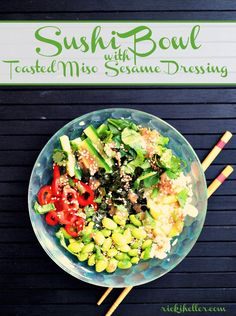 Feb 2018 - A grain-free Sushi Bowl that's perfect for anyone looking for a vegan candida diet recipe. Perfect for low-carb and sugar-free diet, too! Paleo, Keto, Vegan Meal Plans, Diet Meal Plans, Whole Food Recipes, Vegan Recipes, Plant Based Diet Meals, Detox Meal Plan, Recipes