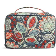 Vera Bradley Large Blush & Brush Makeup Case in Nomadic Floral ($52) ❤ liked on Polyvore featuring beauty products, beauty accessories, bags & cases, nomadic floral, cosmetic purse, vera bradley, purse makeup bag, dop kit and toiletry bag