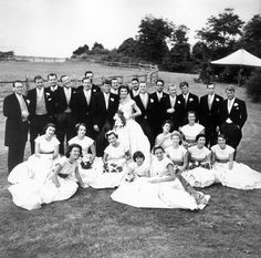 PX81-32:62  The Wedding Party of John F. Kennedy and Jacqueline Bouvier Kennedy in Newport, RI