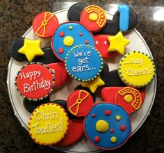 Mickey Mouse Clubhouse Sugar Cookies. $15.00, via Etsy.