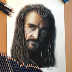 Thorin Color Pencil Drawing by AtomiccircuS.deviantart.com on @deviantART