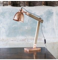 Jakob Angled Desk Lamp in Copper