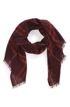 Adding this chic wool and silk Burberry scarf to the winter wardrobe.