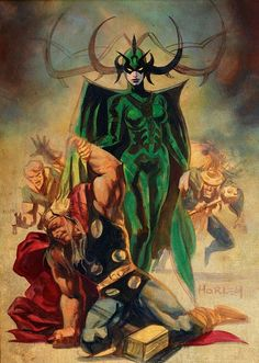 """Thor Defeated by Hela"" I always considered Hela one of the more interesting villains in the Thor comics... partly because she isn't really a true villain."