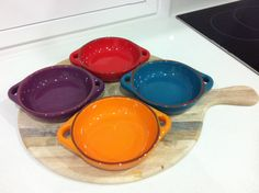 Jamie Oliver Tapa Bowls - Combine with board for a funky splash of colour in your kitchen!