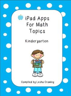 Resources aligned to Envision Math for kindergarten, includes an app list, and downloadable resources