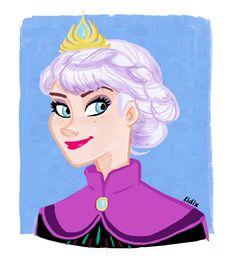 Elsa color Sketch