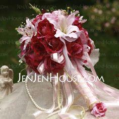 Wedding Flowers - $29.99 - Blooming Round Satin Wedding Bouquet (124032076) http://jenjenhouse.com/Blooming-Round-Satin-Wedding-Bouquet-124032076-g32076