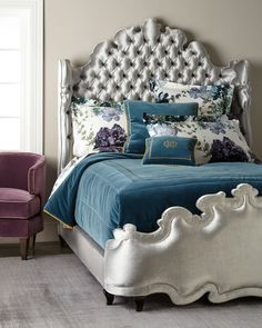 Shop Isabella Tufted California King Bed from Haute House at Horchow, where you'll find new lower shipping on hundreds of home furnishings and gifts. Tufted Bed, Upholstered Furniture, Bedroom Furniture, Furniture Design, Bedroom Decor, Bedroom Ideas, Glam Bedroom, Master Bedroom, King Beds