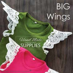 Big wings.....here is the comparison. ... . . . . #babyshop #babyshower #babyclothes #ootd #ootdshare #fashionbaby #babygirl #babyfashion #babyclothesforsale #diystyle #handmadeclothes #handmade #handmasestyle #handmadeau #handmadeaus #diyhandmade #lacewings #lacesleeves #wings #wingsuit #goldcoast #sydney #pretty #perth #melbourne