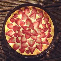 Erdbeer zebra kuchen