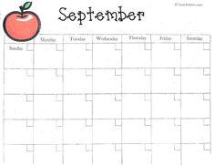 Classroom Freebies: Calendar Grids